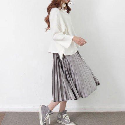 大人可愛い トレンド感 フレア ベロア スカート