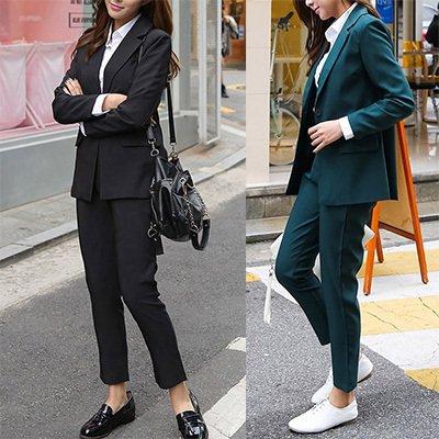 スタンダード 通勤 ダークグリーン ブラック 単色 無地 かっこいい セットアップ パンツスーツ