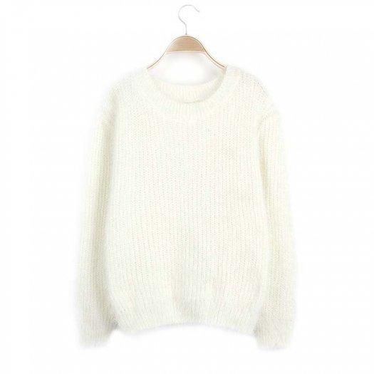 ふわふわ 柔らかい ゆったり 暖かい ニット セーター