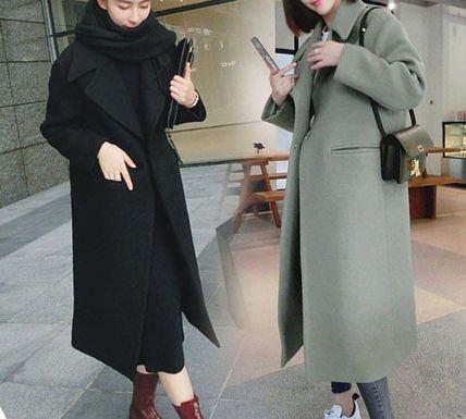 ロング チェスターコート 定番アイテム カジュアルスタイル ロングコート 無地 オフィスファッション グリーン ブラック