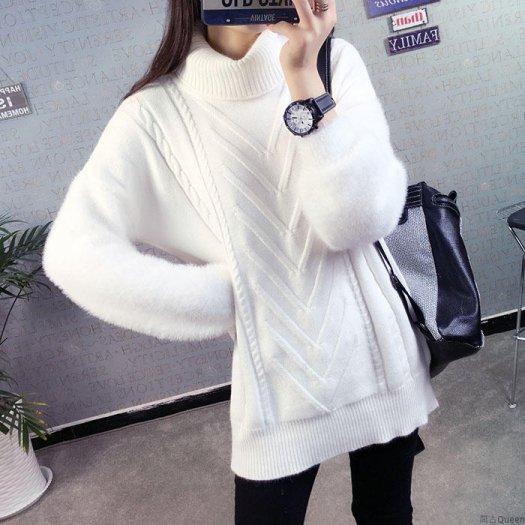 大人気の袖ファーが可愛い テクスチャーニット 2way カジュアルスタイル ボリューム袖 部分ファー 秋冬