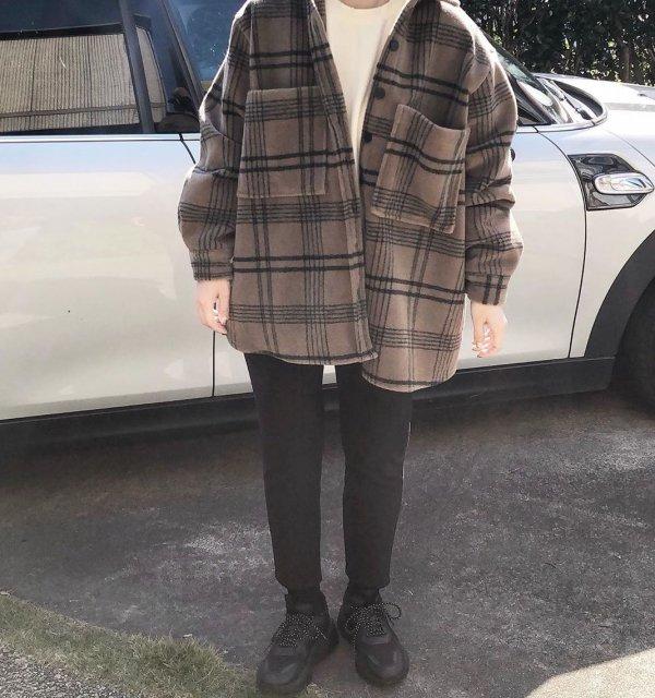 【2色】リラックス テーパード アンクルパンツ ストリート 無地 9分丈パンツ カジュアル 秋冬