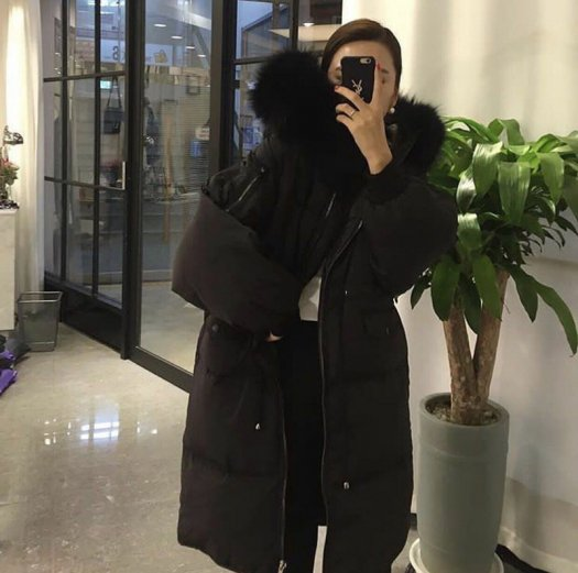 【5色】スタイルUP ウエストマーク 中綿コート エコファー 無地 ロング カジュアル 秋冬