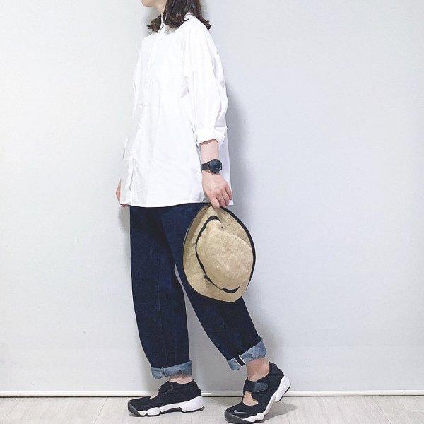 【chiharu1978コラボ商品 全4色】シンプル オーバーサイズ 長袖 シャツ
