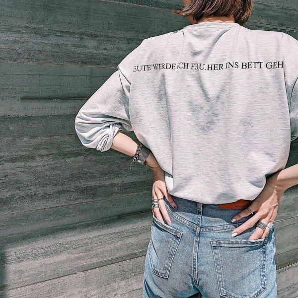 バックプリント オーバーサイズ ロングTシャツ
