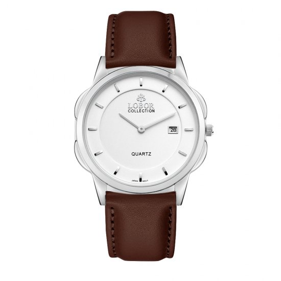 【LOBOR】ロバー CLASSY S NORTHCOTE BROWN 39mm 腕時計