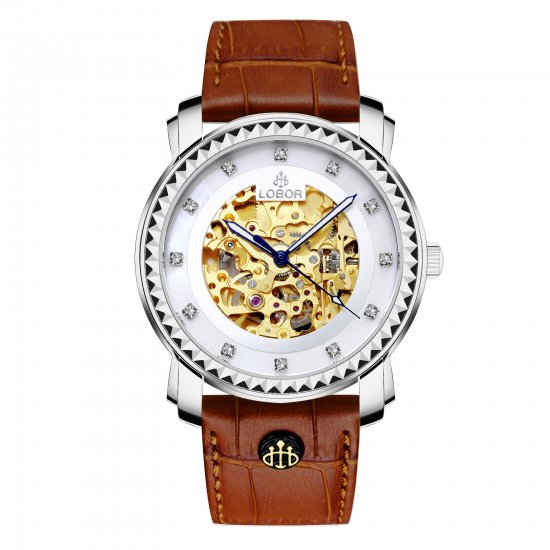 【LOBOR】ロバー PREMIER STAUNTON (BROWN) 40mm 腕時計