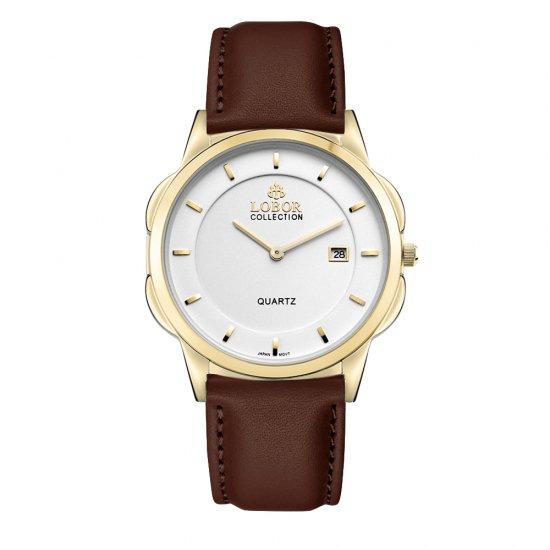 【LOBOR】ロバー CLASSY S STAVELEY BROWN 39mm 腕時計