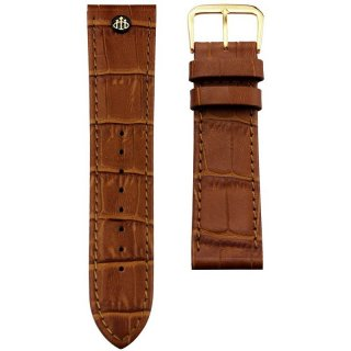 CLASSIC S BROWN STRAP GOLD(22MM)