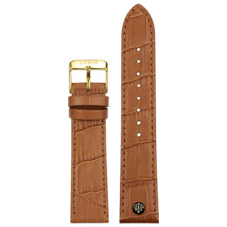 BROWN STRAP 22MM(GOLD)