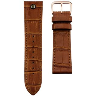 CLASSIC S BROWN STRAP ROSE(22MM)