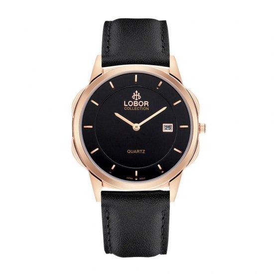 【LOBOR】ロバー CLASSY S JAGUAR BLACK 39mm 腕時計