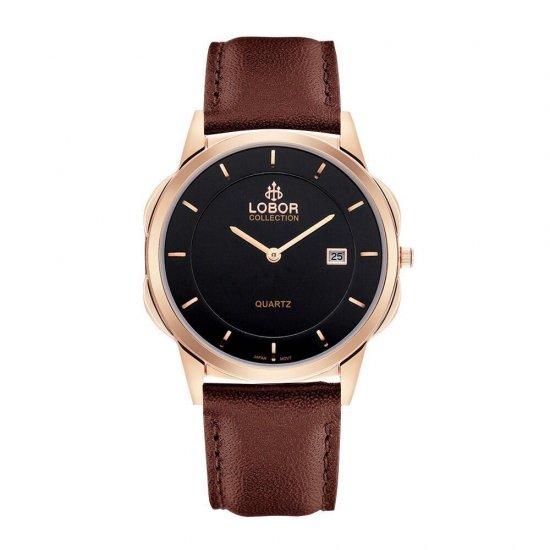 【LOBOR】ロバー CLASSY S JAGUAR BROWN 39mm 腕時計