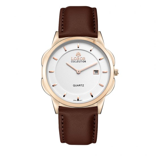 【LOBOR】ロバー CLASSY S OXFORD BROWN 39mm 腕時計