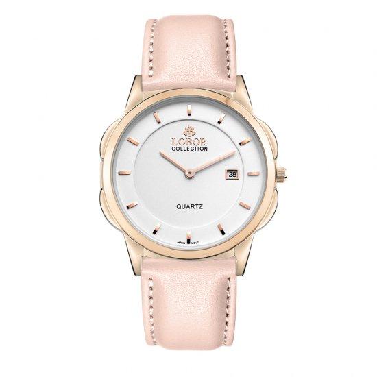 【LOBOR】ロバー CLASSY S OXFORD PINK 39mm 腕時計