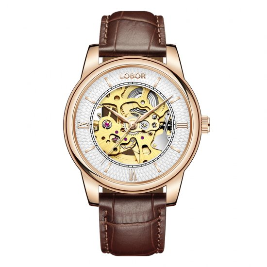 【LOBOR】ロバー DYNASTY CHARLEMAGNE BROWN 腕時計
