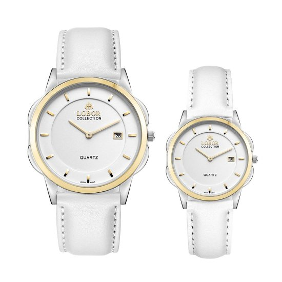 【LOBOR】ロバー CLASSY S LAMBETH WHITE PAIR 腕時計