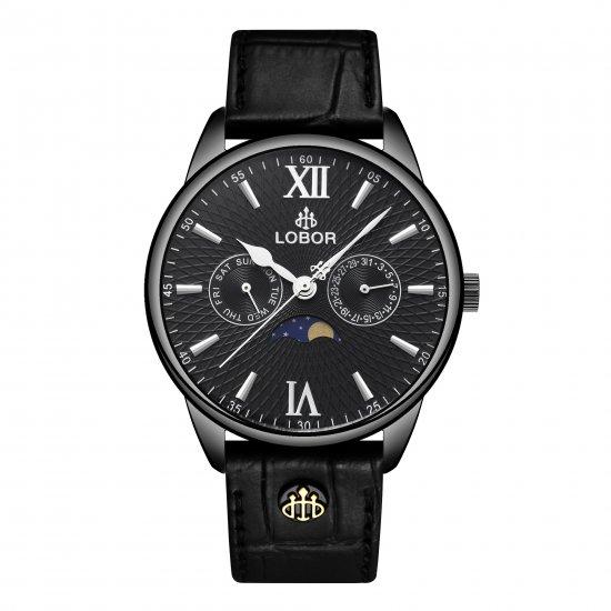【LOBOR】ロバー MERIDIAN APHELION BLACK 40mm 腕時計