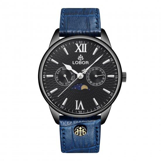 【LOBOR】ロバー MERIDIAN APHELION BLUE 40mm 腕時計