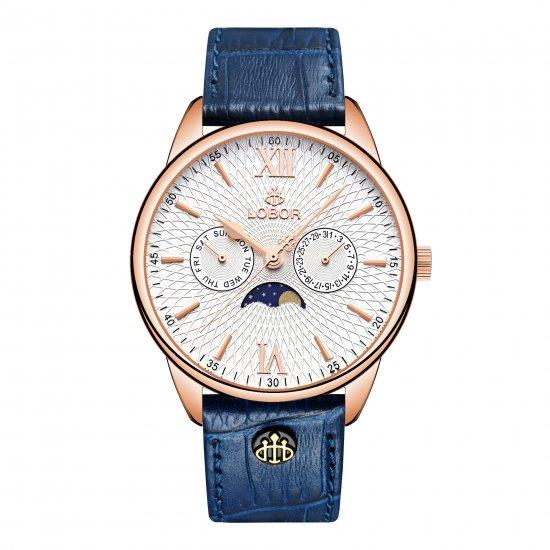 【LOBOR】ロバー MERIDIAN PERIHELION BLUE 40mm 腕時計