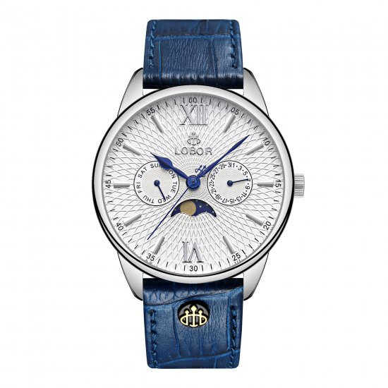 【LOBOR】ロバー MERIDIAN EQUINOX BLUE 40mm 腕時計