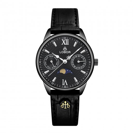 【LOBOR】ロバー MERIDIAN APHELION BLACK 33mm 腕時計