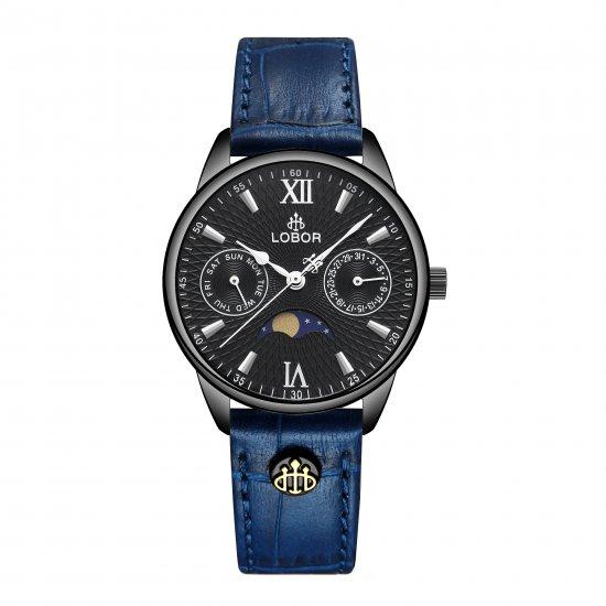【LOBOR】ロバー MERIDIAN APHELION BLUE 33mm 腕時計