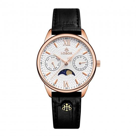 【LOBOR】ロバー MERIDIAN PERIHELION BLACK 33mm 腕時計