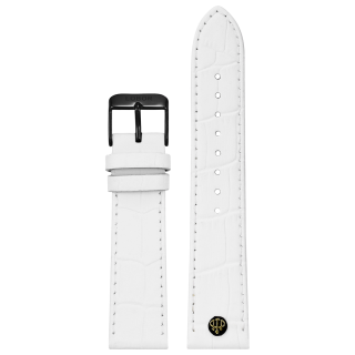 WHITE STRAP 22MM(BLACK)