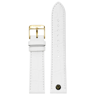 WHITE STRAP 22MM(GOLD)