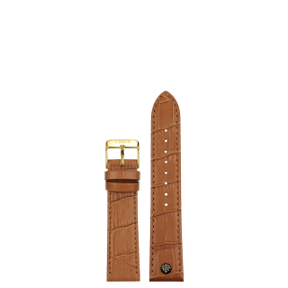 BROWN STRAP 16MM(GOLD)