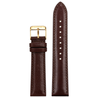 BROWN STRAP 20MM(GOLD)