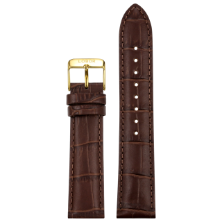 DYNASTY BROWN STRAP 20MM(GOLD)