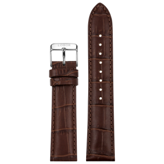 DYNASTY BROWN STRAP 20MM(SILVER)