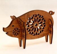 ぶた貯金箱 木製