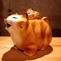 ねこポット(黄トラ)