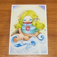あまびえ猫 ぬり絵キット1 (安江美香)