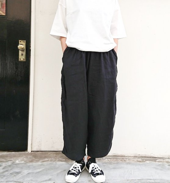 Ordinary fits  BALL PANTS linen BLK