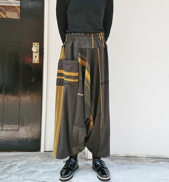 tamaki niime tarun pants long wool×cotton