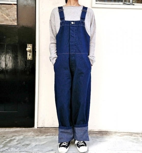 Ordinary fits DUKE OVERALL DENIM one wash