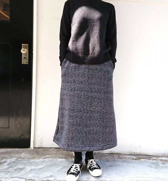 BETTER TWILL FLEECE SKIRT GRAY