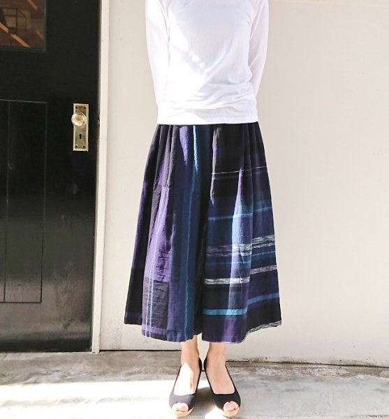 tamaki niime wide pants short cotton