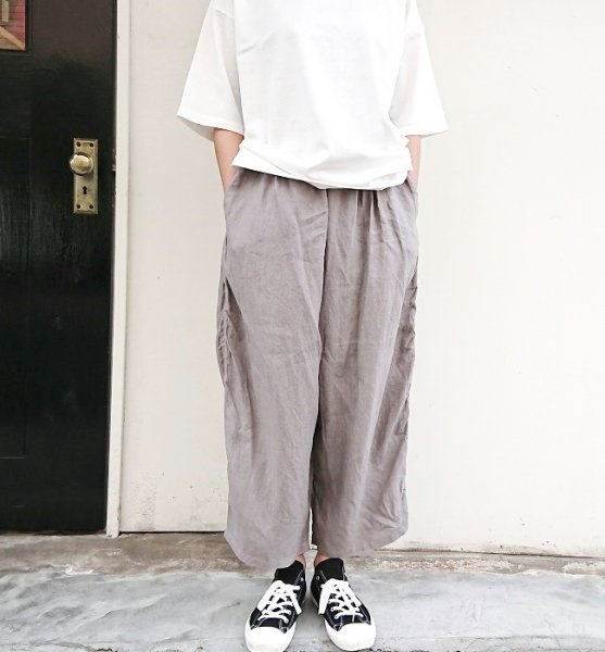 Ordinary fits  BALL PANTS linen GRY