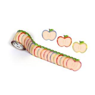 書けるロールステッカーりんご