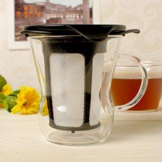 Hario ワンカップティーメーカー OTM-1B|1杯用★一人分が美味しく淹れられます。