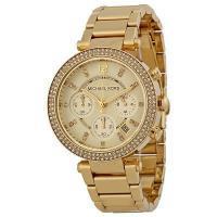 d7c3d090fefa 正規品 Michael Kors マイケルコース PARKER パーカー 腕時計 レディース MK5354ゴールド ステンレス クリスタル