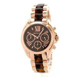 39f53ad13ce7 正規品 Michael Kors マイケルコース BRADSHAW ブラッドショー 腕時計 レディース MK5944 ブラウン ステンレス べっ甲  クロノグラフ 価格:17,800円(内税)
