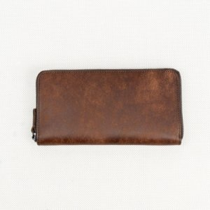 ラウンドウォレット(財布) イタリア植物タンニンなめし革・プエブロ/タバコ