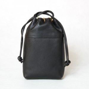 合切袋(巾着)-ottone- イタリア植物タンニンなめし革・ナッパレザー