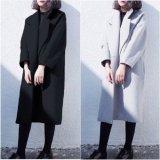 大きいサイズ オーバーサイズ チェスターコート グレー ブラック 黒 ロングコート コーデ 無地